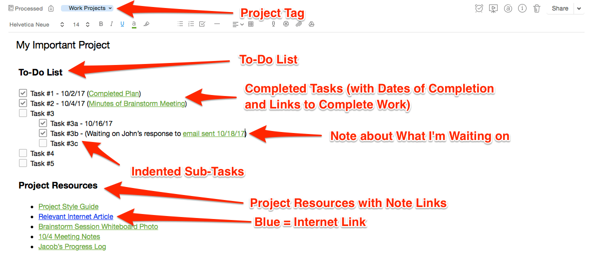 How to Manage Projects in Evernote